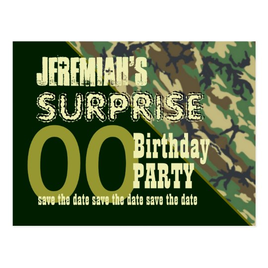 Cualquie reserva del cumpleaños de la sorpresa del postal