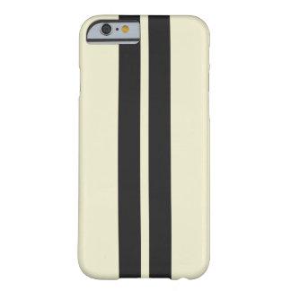 Cualquie simple rayado del negro blanco de la funda barely there iPhone 6