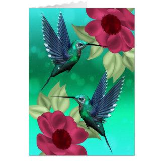 Cualquie tarjeta de felicitación del pájaro del ta