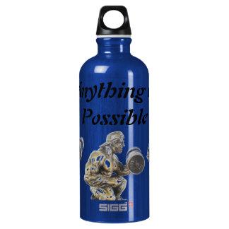 Cualquier cosa de levantamiento de pesas posible botella de agua
