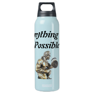 Cualquier cosa del culturista posible botella de agua