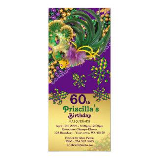 cualquier edad, 60.a, mujer del cumpleaños del invitación 10,1 x 23,5 cm