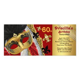 cualquier edad, 60.a, styl del boleto de la invitación 10,1 x 23,5 cm