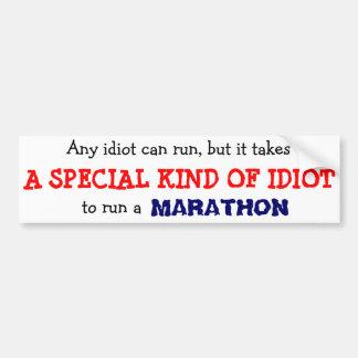 Cualquier idiota puede correr… pegatina para coche