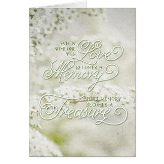 Cuando alguien que usted ama se convierte una tarjeta de felicitación