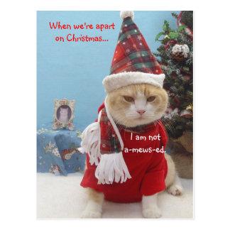 Cuando estamos separados en navidad…,… postal