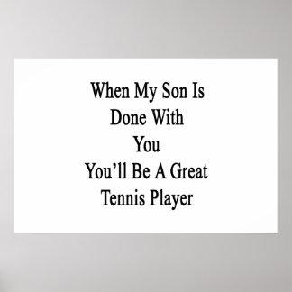 Cuando hacen a mi hijo con usted usted será póster