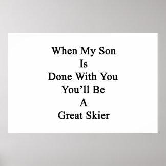 Cuando hacen a mi hijo con usted usted será un póster
