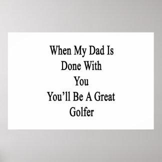 Cuando hacen a mi papá usted que usted será un póster