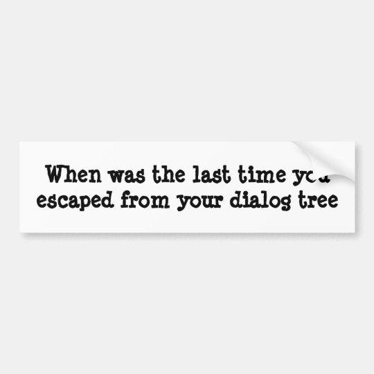 Cuando hizo usted se escapó de su árbol del pegatina para coche