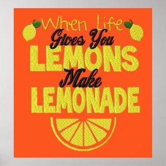 Cuando la vida da el poster de los limones (fondo