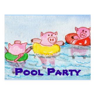 Cuando los cochinillos flotan - los cerdos de la postal
