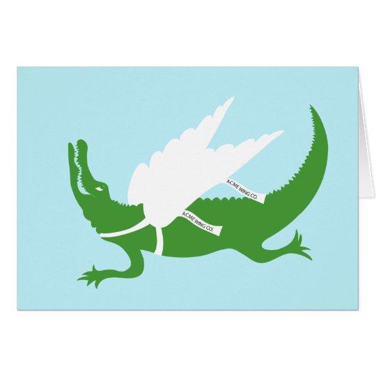 Cuando los cocodrilos vuelan ...... tarjeta de felicitación