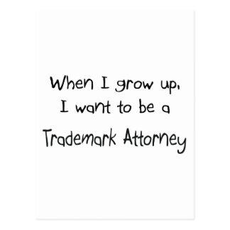Cuando me crezco quiera ser un abogado de la marca postal