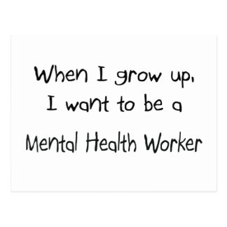 Cuando me crezco quiera ser un ayudante de sanidad tarjeta postal