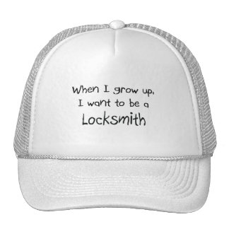 Cuando me crezco quiera ser un cerrajero gorra