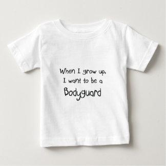 Cuando me crezco quiera ser un escolta camiseta de bebé