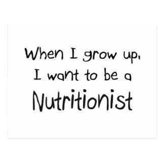 Cuando me crezco quiera ser un nutricionista postal