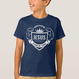 Cuando soy débil, él me hace la camiseta fuerte
