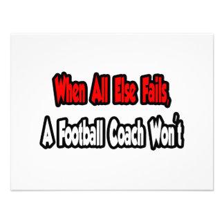 Cuando todo falla, un entrenador de fútbol no comunicado personal
