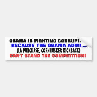 """Cuando un gobierno corrupto """"lucha"""" la corrupción. pegatina de parachoque"""