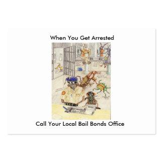 Cuando usted consigue arrestado tarjetas de negocios