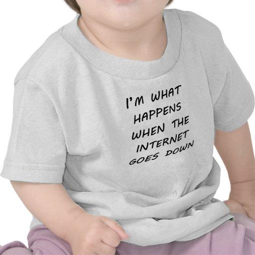 Cuando va el Internet abajo Camiseta