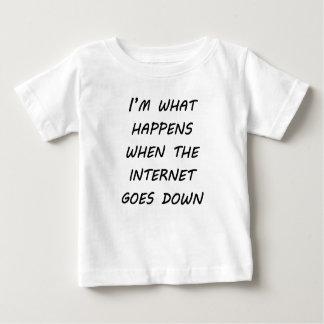 Cuando va el Internet abajo Camiseta Para Bebé
