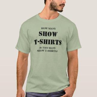Cuántas camisetas de la demostración son