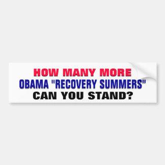 ¿Cuántos veranos de la recuperación de Obama puede Pegatina De Parachoque