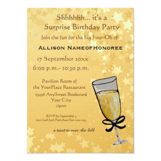 Cuarenta años del cumpleaños de la tostada de invitación 13,9 x 19,0 cm