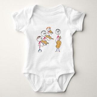 Cuarteto de cuerda 2 body para bebé