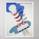 Cuarteto de la barbería WPA 1936 Poster