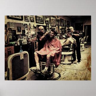Cuarteto de la peluquería de caballeros póster