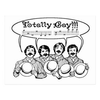 Cuarteto totalmente gay de la barbería postal