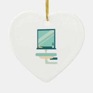 Cuarto de baño adorno de cerámica en forma de corazón