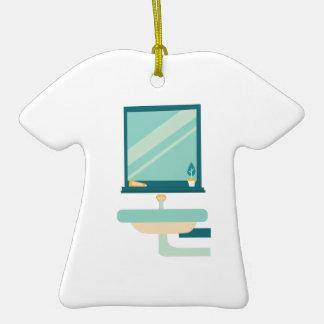 Cuarto de baño adorno de cerámica en forma de camiseta