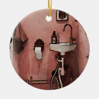 Cuarto de baño de la diversión adorno redondo de cerámica