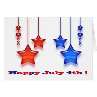 Cuarto de julio tarjeta de felicitación
