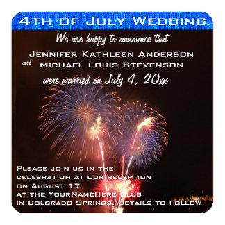 Cuarto de la invitación del boda de julio