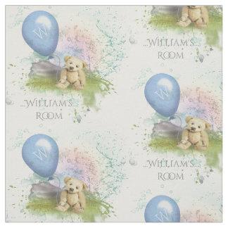 Cuarto de niños azul de los bebés del globo del tela