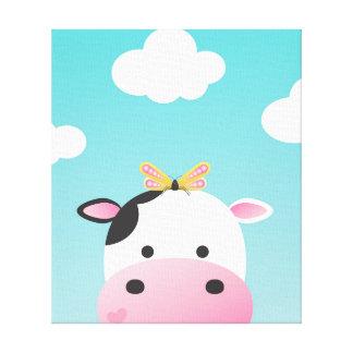 Cuarto de niños de BFFs de la vaca y de la Impresión En Lienzo