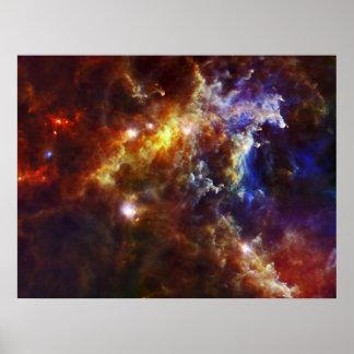 Cuarto de niños estelar en las nebulosas del roset póster
