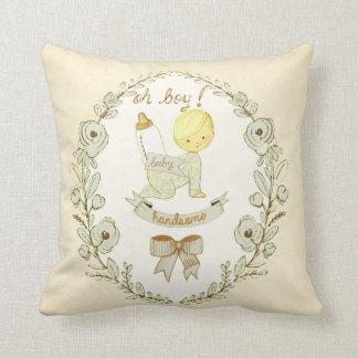 Cuarto de niños hermoso del bebé del vintage cojín decorativo