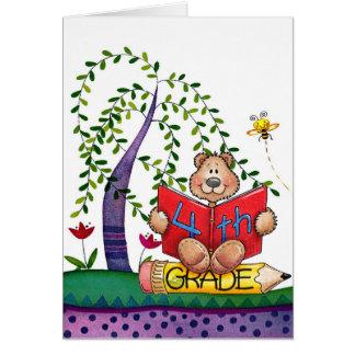 Cuarto grado tarjeta de felicitación
