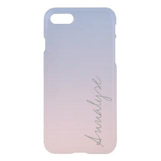 Cuarzo color de rosa Ombre rosado azul de la Funda Para iPhone 7