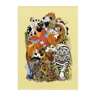 cuatro animales celestiales impresión acrílica
