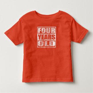 Cuatro años - 4ta camiseta feliz del cumpleaños