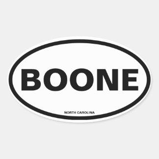 CUATRO Boone Pegatina Ovalada
