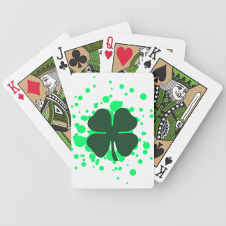 cuatro burbujas del trébol de la hoja baraja cartas de poker